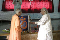 Yogacharya B.K.S.Iyengar Visit Yoga Vidya Gurukul ashram in Trimbak