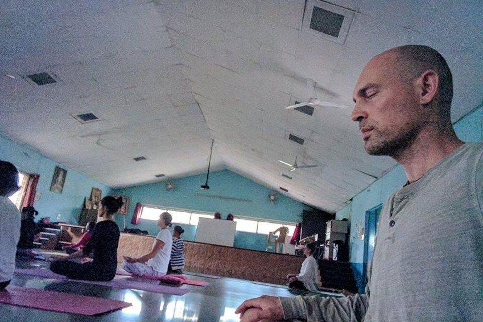 Yoga Students Practising Group Medtation