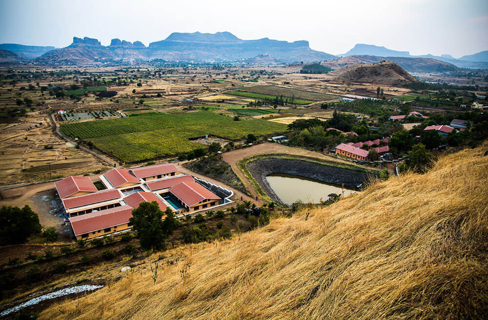 Top view yogapoint ashram